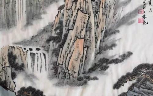 白云涧泉图